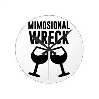 Mimosional Wreck Wall Clocks