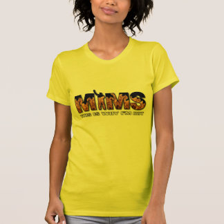 MIMS Apparel -  This is Why I'm Hot Logo - White Tshirts