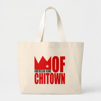 MIMS Totebag -  American King of Chi-Town Jumbo Tote Bag