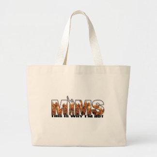 MIMS Totebag -  This is Why I'm Hot Logo - Black Jumbo Tote Bag