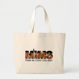 MIMS Totebag -  This is Why I'm Hot Logo - White Jumbo Tote Bag