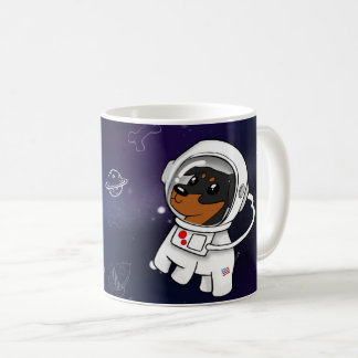 Min Pin Astronaut in Space Coffee Mug