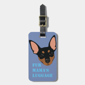 Min Pin (Black) Luggage Suitcase Carry-On Tag