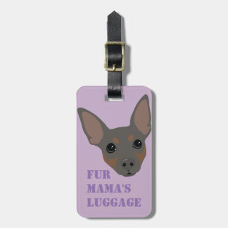 Min Pin (Blue) Luggage Suitcase Carry-On Tag