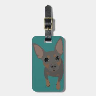 Min Pin (Blue) Luggage Tag