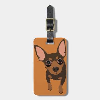 Min Pin (Chocolate) Luggage Tag