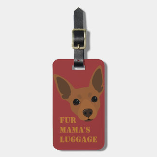 Min Pin (Rust / Red) Luggage Suitcase Carry-On Tag