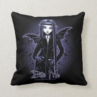 Mina Gothic Blue Bite Me Vampire Fairy Pillow