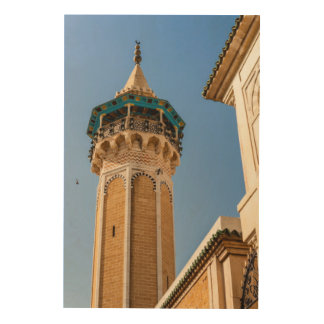 Minaret Of A Mosque Wood Print