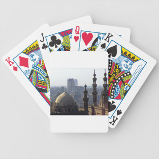 Minarets view of Sultan Ali mosque Cairo Bicycle Playing Cards