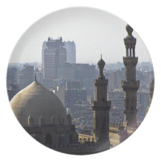 Minarets view of Sultan Ali mosque Cairo Party Plate