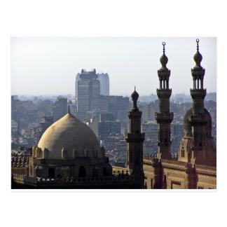 Minarets view of Sultan Ali mosque Cairo Postcard