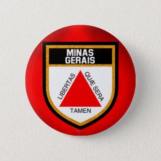 Minas Gerais Flag 6 Cm Round Badge