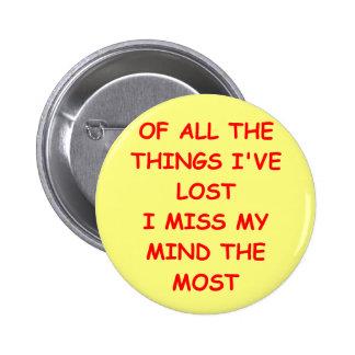 mind 6 cm round badge