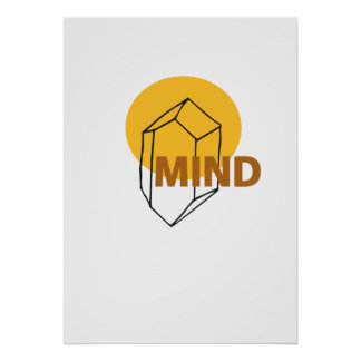 Mind - abstract Crytal Art Poster