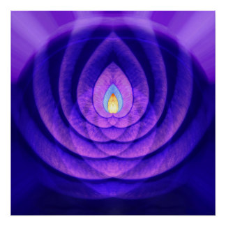Mind Beacon in Purple and Blue Poster