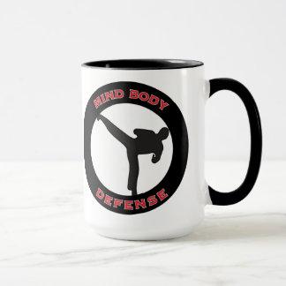 Mind Body Defense Mug White