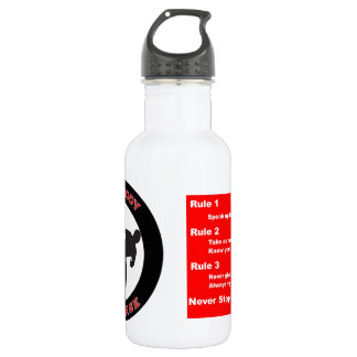 Mind Body Defense Rules Water Bottle 18 oz