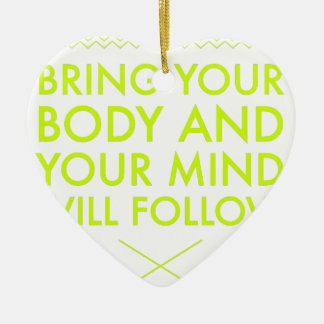 Mind Body Fellowship AA Meeting Recovery Ceramic Ornament