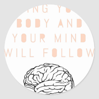 Mind Body Fellowship AA Meeting Recovery Classic Round Sticker
