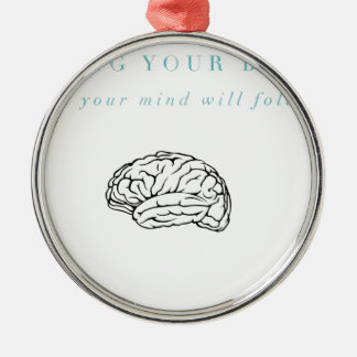 Mind Body Fellowship AA Meeting Recovery Metal Ornament