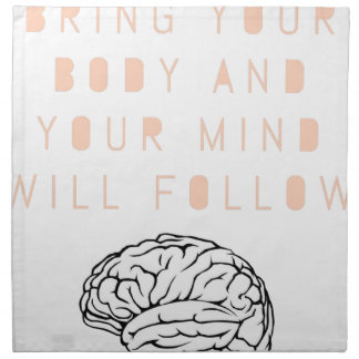 Mind Body Fellowship AA Meeting Recovery Napkin