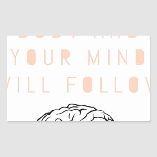 Mind Body Fellowship AA Meeting Recovery Rectangular Sticker