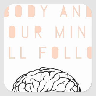 Mind Body Fellowship AA Meeting Recovery Square Sticker