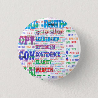 Mind boggling motivational text for success 3 cm round badge