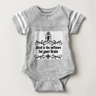 Mind Is A software For Your Brain Medieval quote Baby Bodysuit