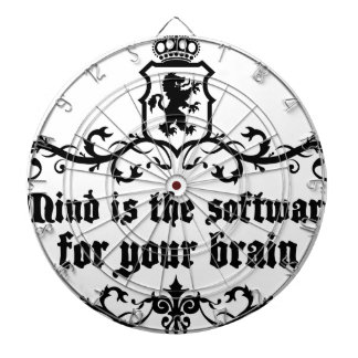 Mind Is A software For Your Brain Medieval quote Dartboard
