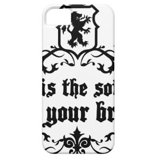 Mind Is A software For Your Brain Medieval quote iPhone 5 Case