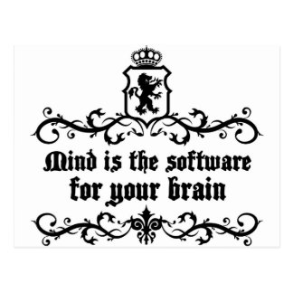 Mind Is A software For Your Brain Medieval quote Postcard