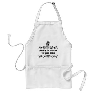 Mind Is A software For Your Brain Medieval quote Standard Apron