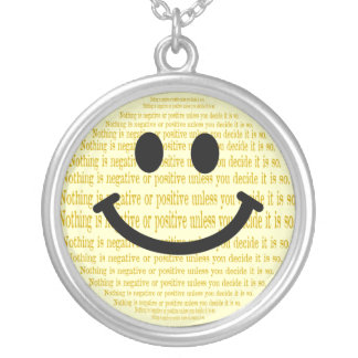 Mind over Matter Smiley Necklace