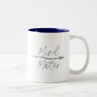 Mind Over Matter Two-Tone Coffee Mug
