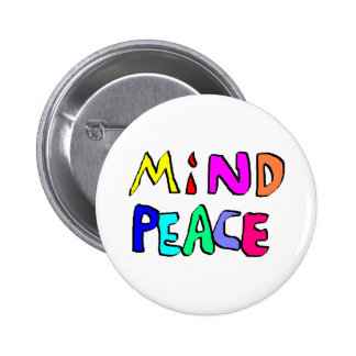 mind peace 2 pinback button