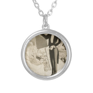 Mind Reading Self Hypnosis Silver Plated Necklace