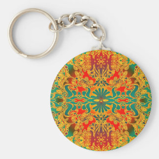 mind stamp basic round button key ring