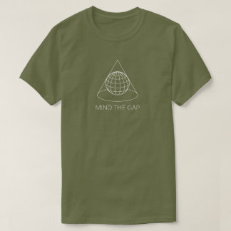 Mind the Gap (Conical Projection - Dark) T-Shirt