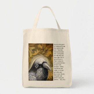 Mind the Raven Grocery Tote Bag