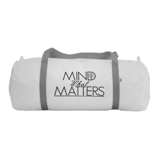 Mind What Matters - White Yoga Bag Gym Duffel Bag