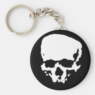 Mind Wither Day signature skull Basic Round Button Key Ring