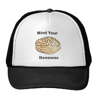 Mind Your Beeswax: Honeycomb Brain Trucker Hat