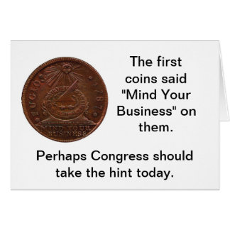Mind Your Business Congress Card