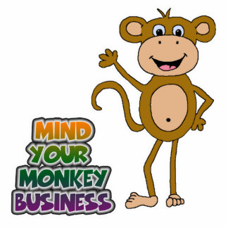 mind your monkey business acrylic cut outs