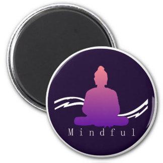 """""""Mindful"""" Beautiful Buddha Magnet. Magnet"""