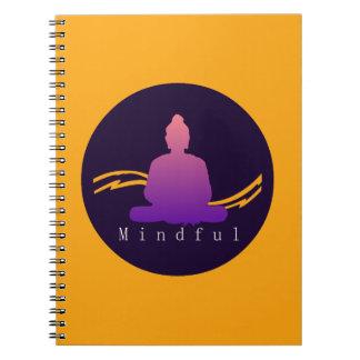 """""""Mindful"""" Beautiful Buddha. Notebook"""