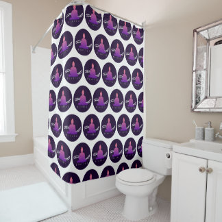 """Mindful"" Beautiful Buddha. Shower Curtain"