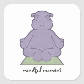 Mindful Moment Hippo Stickers